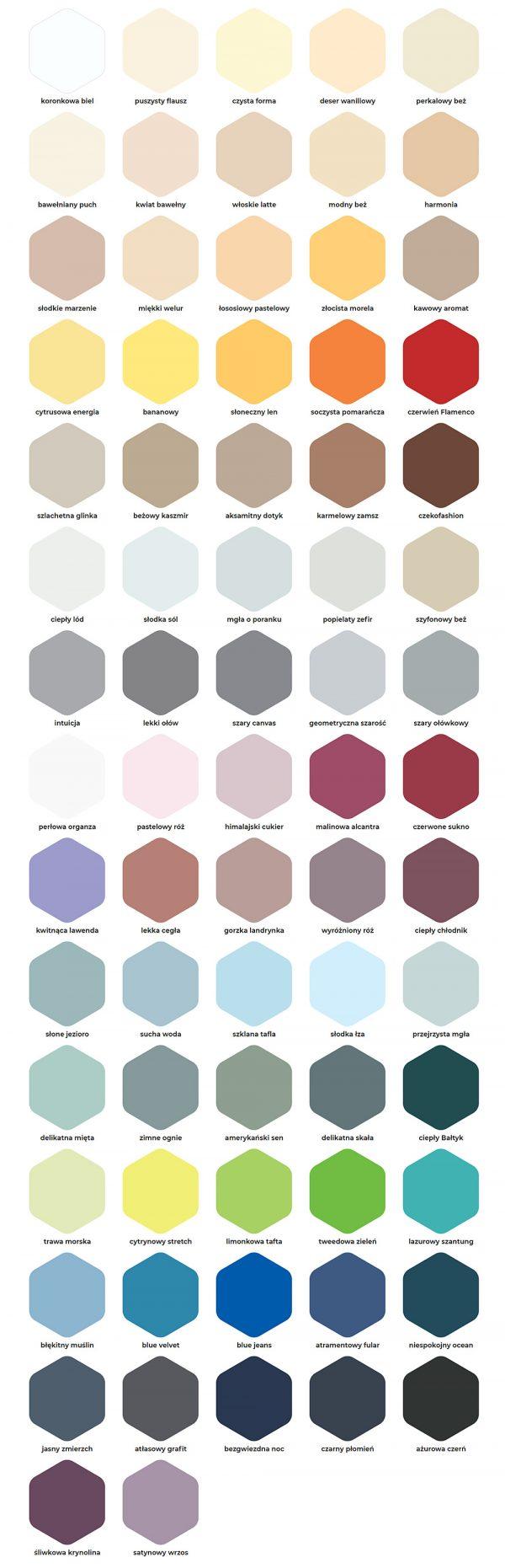 Dekoral Clean & Color próbnik kolorów