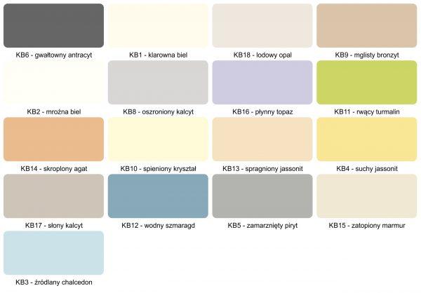 MAGNAT Creative Kitchen & Bathroom paleta kolorów
