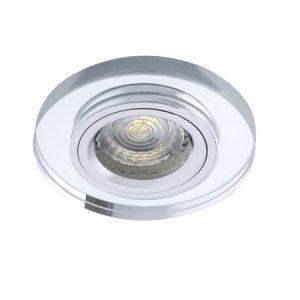 Oprawa sufitowa punktowa MORTA , okrągła, szkło, srebrny