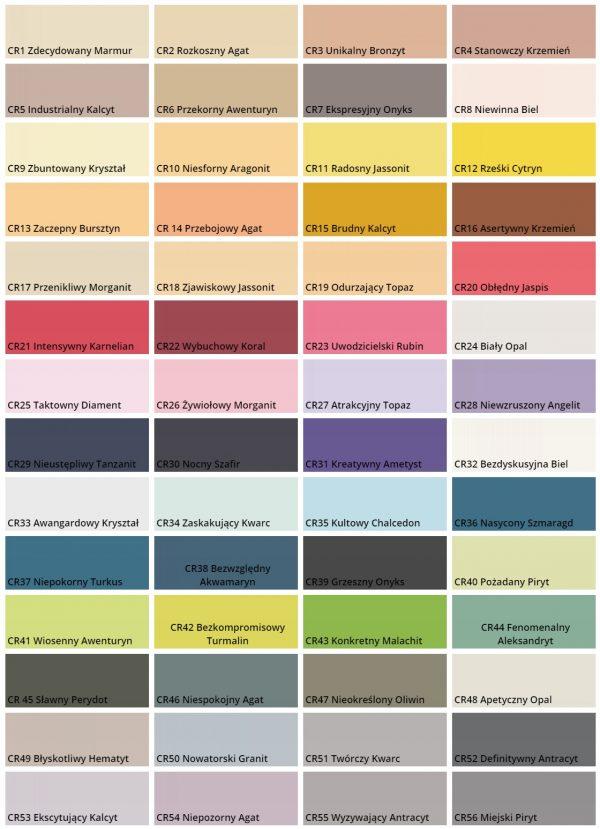 Magnat creative paleta kolorów