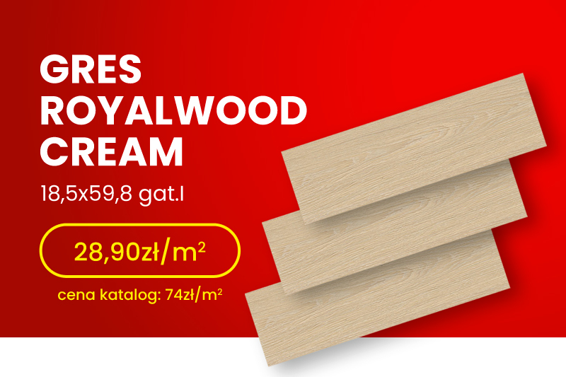 Gres Royalwood Crema 18,5×59,8 gat.I W482-001-1